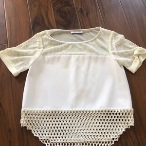 Ivory Elizabeth and James mesh top size small